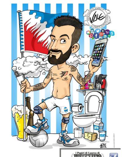 10-caricatura-laurea-papiro-colore-calcio-social-telefono-tatuaggi