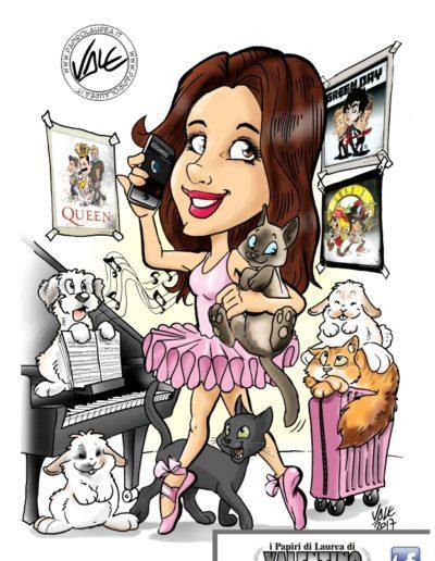 11-caricatura-laurea-papiro-colore-ballerina-musica-pianoforte-cane-gatto