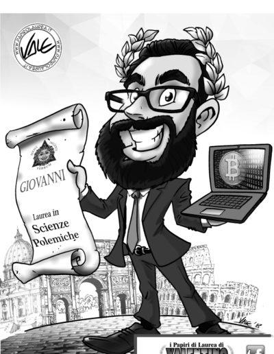 7-caricatura-laurea-master-papiro-pc-corona-alloro-bitcoin-economia-commercio